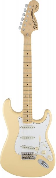 Fender Yngwie Malmsteen Stratocaster Electric Guitar, Scalloped Rosewood Fingerboard, Vintage White