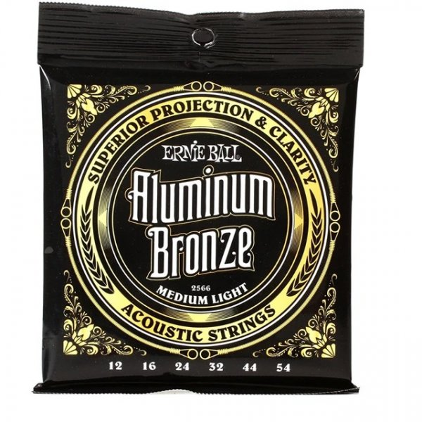 Ernie Ball 2566 Acoustic Guitar Strings - Aluminum Bronze, .012-.054