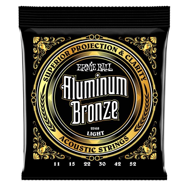 Ernie Ball 2568 Acoustic Guitar Strings - Aluminum Bronze, .011-.052