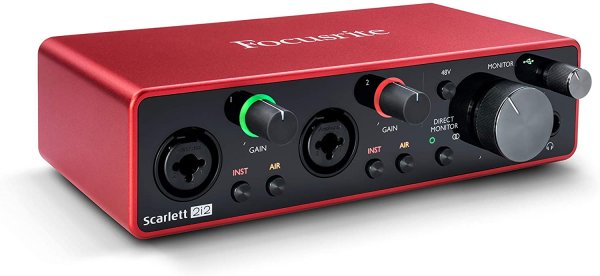 Focusrite Scarlett 2i2 (3rd Gen) USB Audio Interface with Pro Tools
