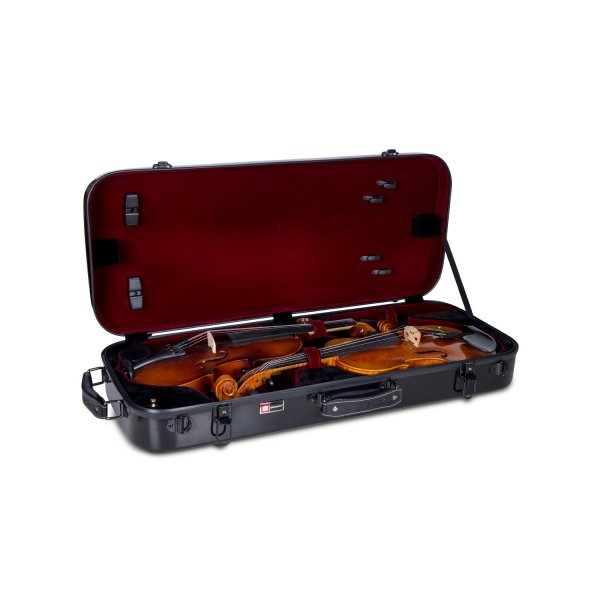 Double violin hard case Flight