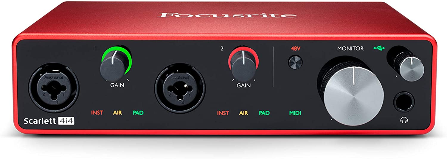 focusrite 4i4 audio interface for recording
