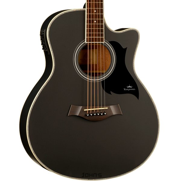 Kepma A1Ce Semi Acoustic Guitar Matt -Black Matt