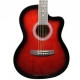 Havana AAG39 Acoustic Guitar with bag - Red