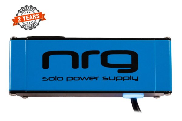 NRG Solo Power Supply – 9volts, 2amp, Center +ve Neon Blue