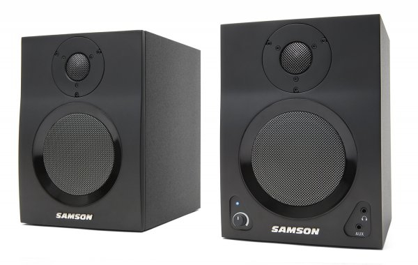 "Samson MediaOne BT4 4"" Powered Monitors with Bluetooth"