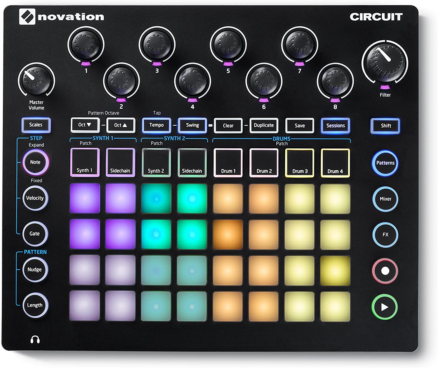 Buy Novation Circuit Groovebox Portable 4 x 8 Pad Matrix Synthesizer online india