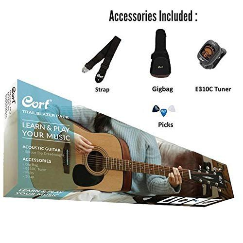 Cort AD810 Acoustic Guitar Pack - Bag + Tuner + Picks + Strap
