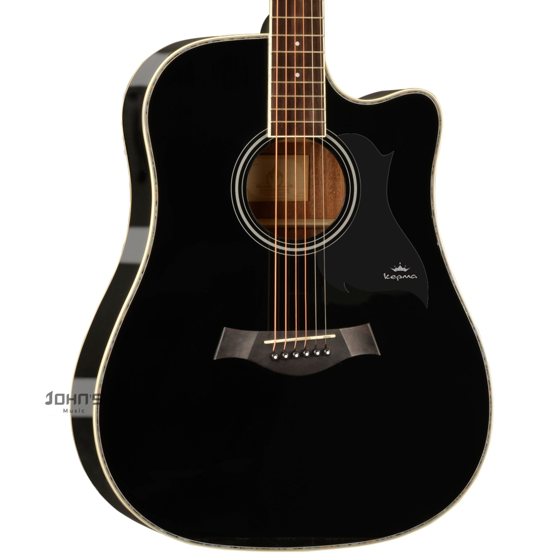 Kepma D1C acoustic Guitar Black