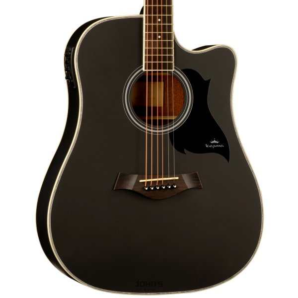 Kepma D1Ce Semi Acoustic Guitar- Black Matt