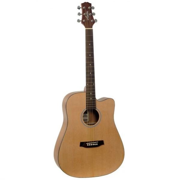 Ashton D20C NTM Dreadnought Cutaway Acoustic Guitar - Natural Matt