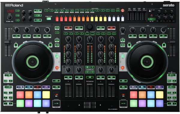 Roland DJ-808 4-deck Serato DJ Pro Controller with Drum Machine and Vocal Transformer