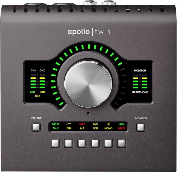 Universal Audio Apollo Twin MKII DUO 10x6 Thunderbolt Audio Interface