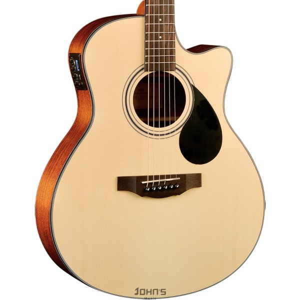 Kepma EAC-E Semi-Acoustic Guitar - Natural