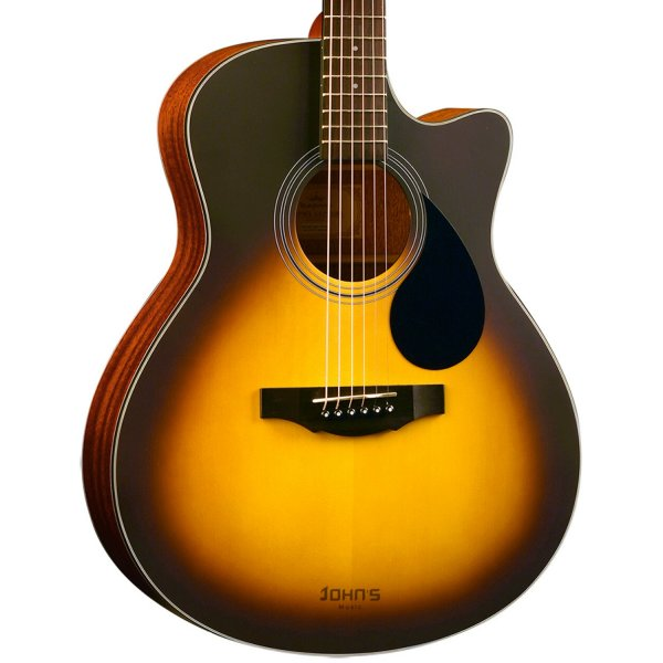 Kepma EAC-E Semi-Acoustic Guitar - Sunburst