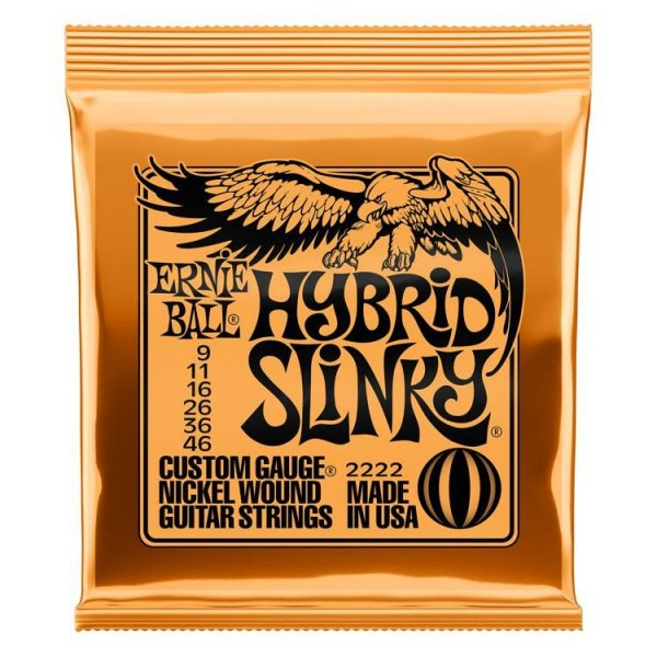 Ernie Ball 2222 Electric Guitar Strings - Nickel, Hybrid Slinky