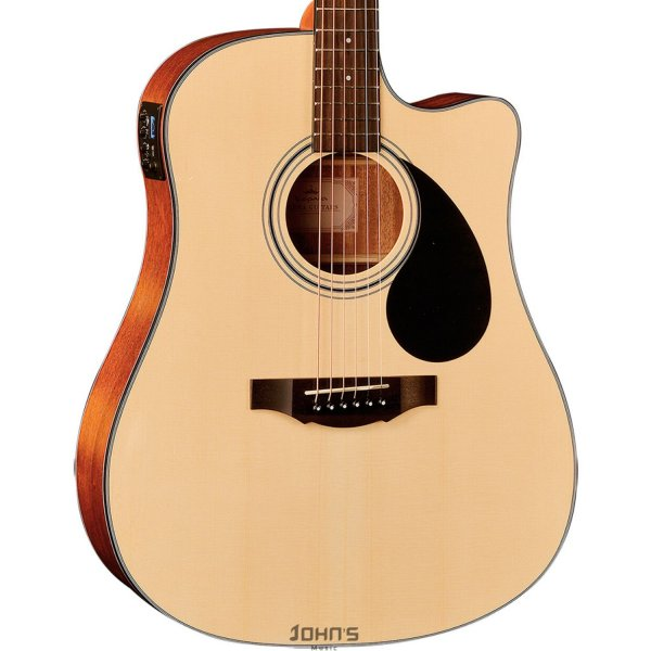 Kepma EDC-E Semi-Acoustic Guitar - Natural