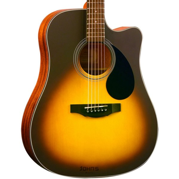 Kepma EDC-E Semi-Acoustic Guitar - Sunburst