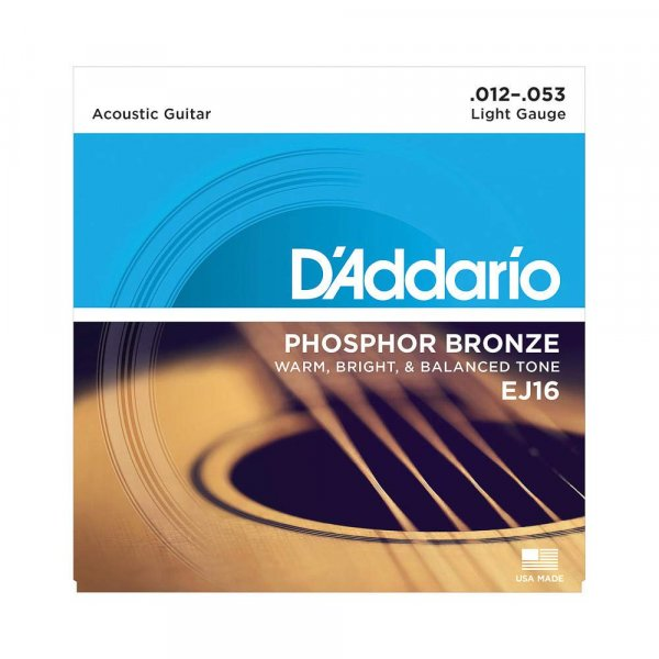 D'Addario EJ16 Acoustic 12-53 Light Guitar Strings