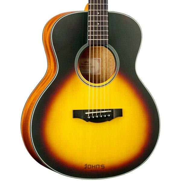 KEPMA ES36 Acoustic Guitar - Sunburst