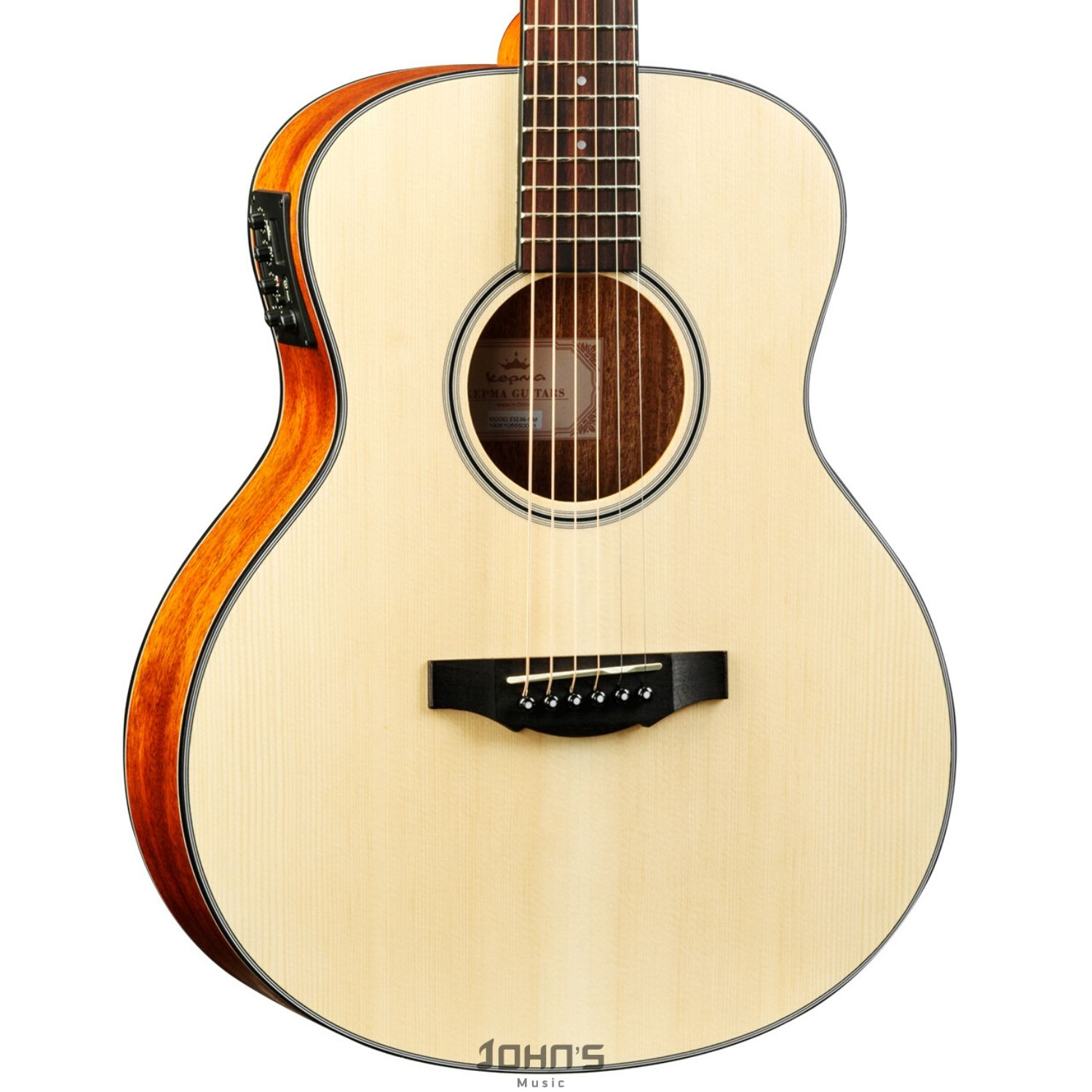 Kepma ES36E Travel Size Semi Acoustic Guitar