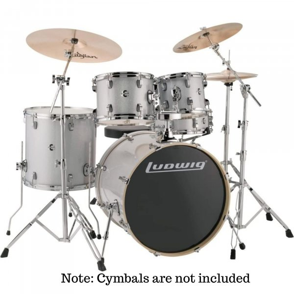 Ludwig Evolution Series 5-Piece Complete Acoustic Drum Kit With Hardware