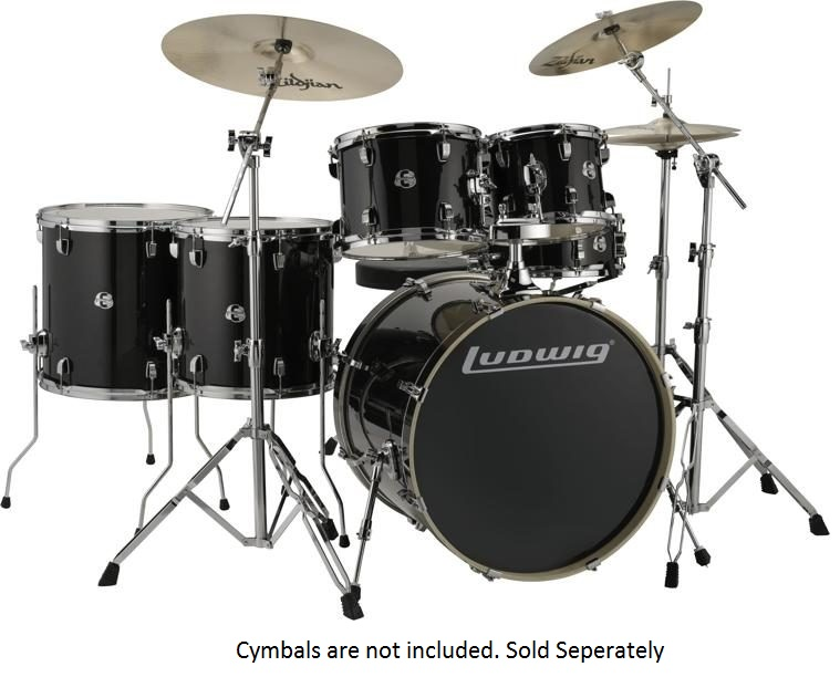 Ludwig Evolution Series 6-Piece Complete Acoustic Drum Kit With Hardware
