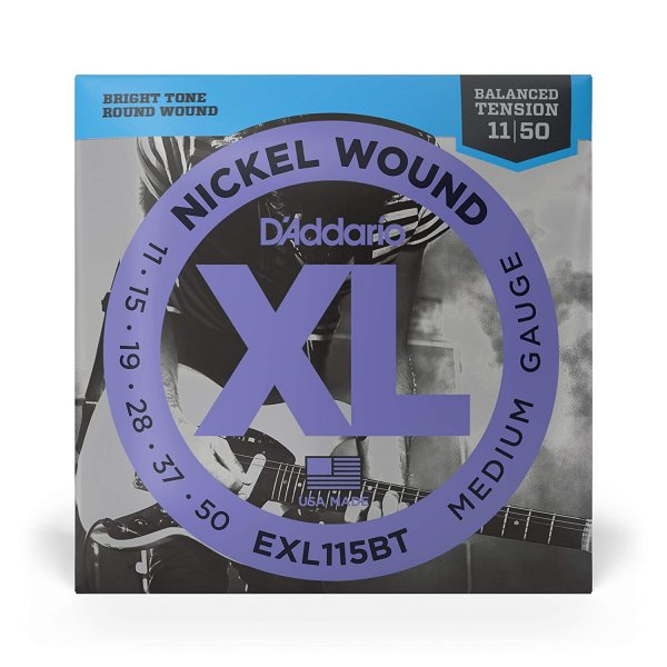 D'Addario EXL115BT Nickel Wound 11-50 Medium Electric Guitar Strings