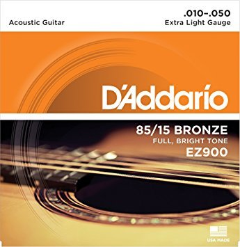 Daddario EZ900 85/15 Bronze Full, Bright Tone Acoustic Guitar Strings .010-.050