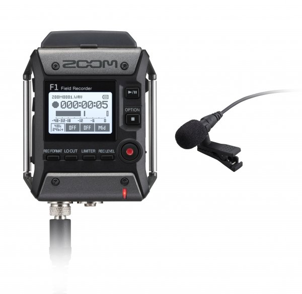 Zoom F1-LP Field Recorder and Lavalier Microphone