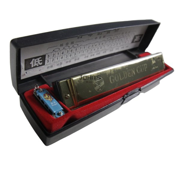 Golden Cup Key C 24-Hole Premium Harmonica Mouth Organ