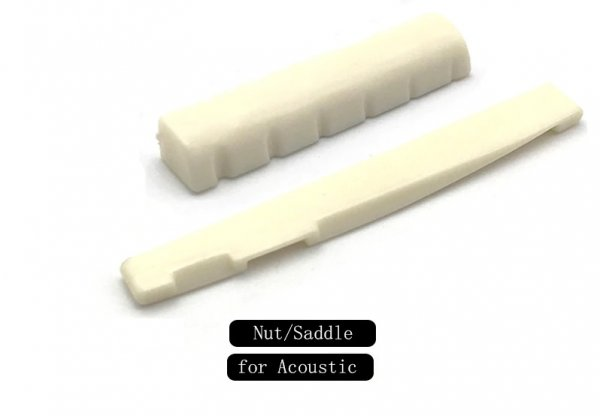 Acoustic Guitar Nut and Saddle combo - Ivory color