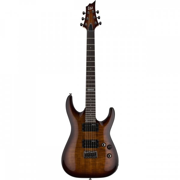 ESP LTD H-101FM Electric Guitar - Dark Brown Sunburst