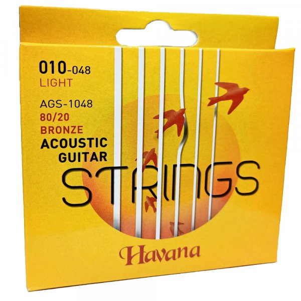 Havana AGS1048 Acoustic Guitar Strings - 10 Gauge
