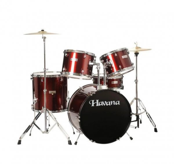 Havana HV622 WR 5 Piece Acoustic Drum Kit with Remo Head