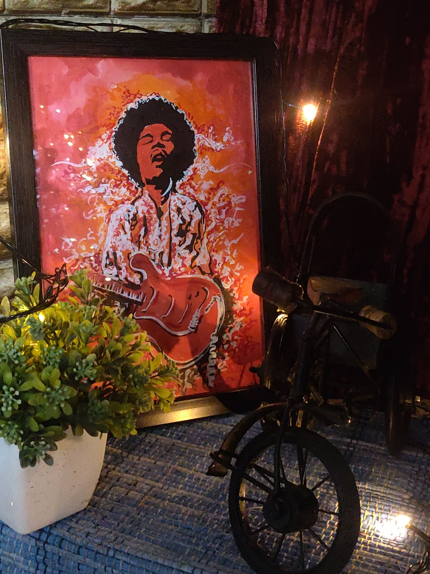 Jimi Hendrix - Hand Painted by Sneha