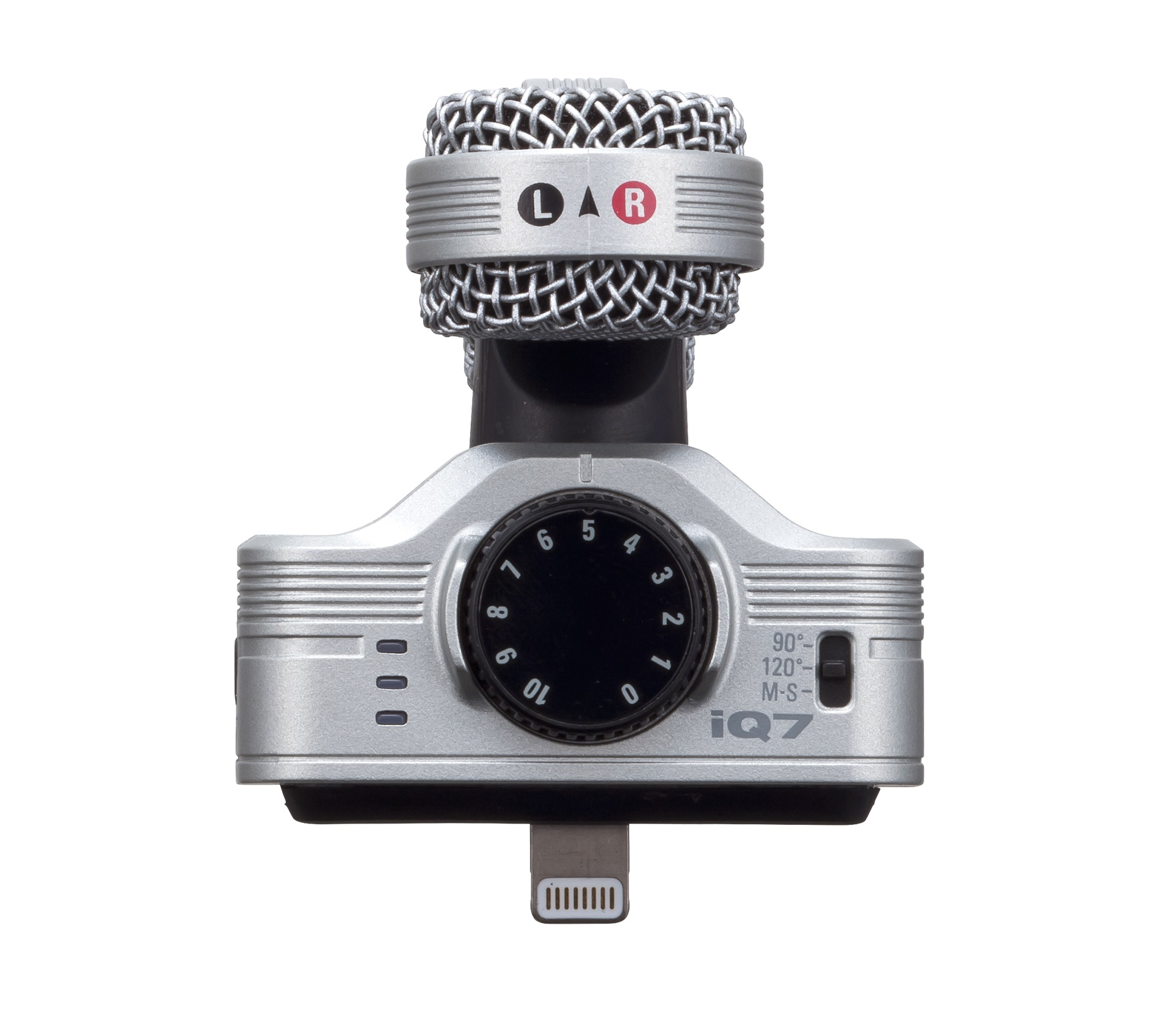 Zoom iQ7 Rotating Mid Side Stereo Capsule - Lightning Connector for iOS