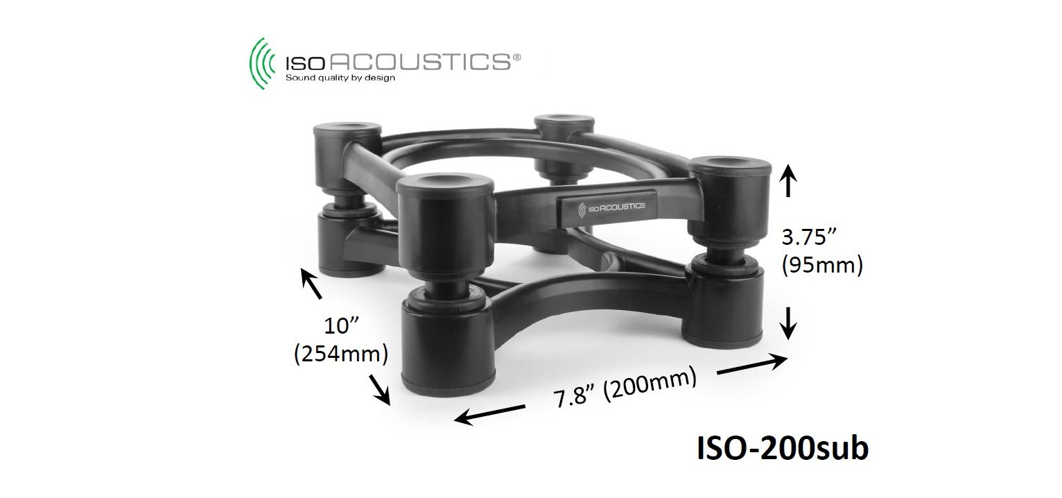 IsoAcoustics ISO-200 Sub Subwoofer Acoustic Isolation Stand