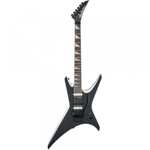 Jackson Warrior JS32 WR Electric Guitar BLK With WHT BVL