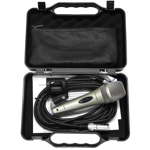 STUDIOMASTER KM102 MICROPHONE with Case holder and 5 meter cable