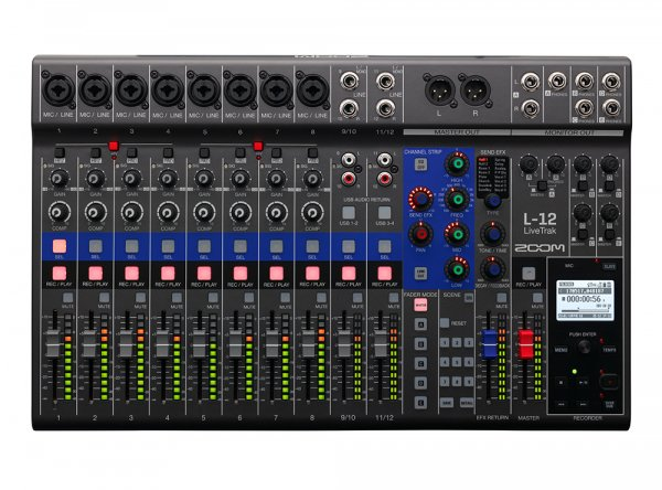 Zoom LiveTrak L-12 12-channel Digital Mixer / Recorder