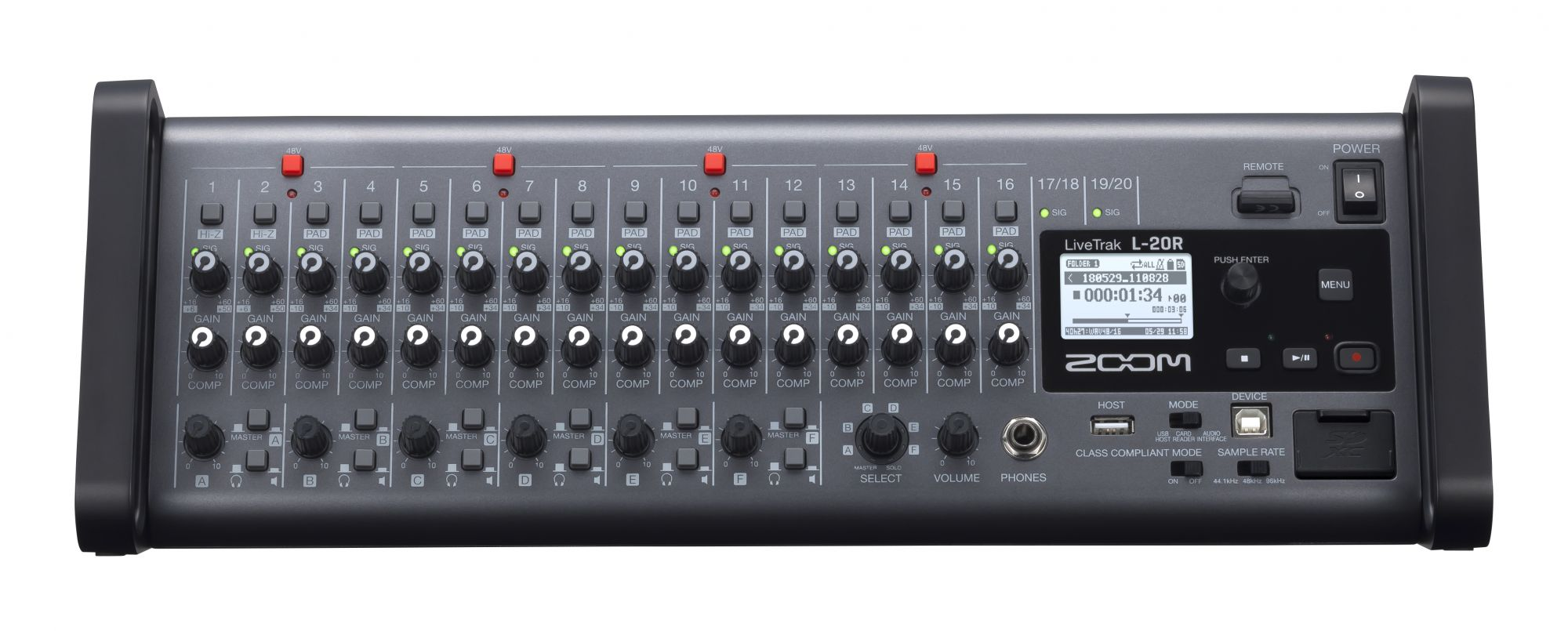 Zoom L20R Remote-controlled Digital Mixer / Recorder