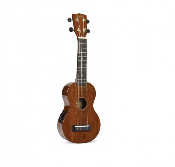 Mahalo Semi Acoustic Concert Ukulele Vintage Natural With Bag
