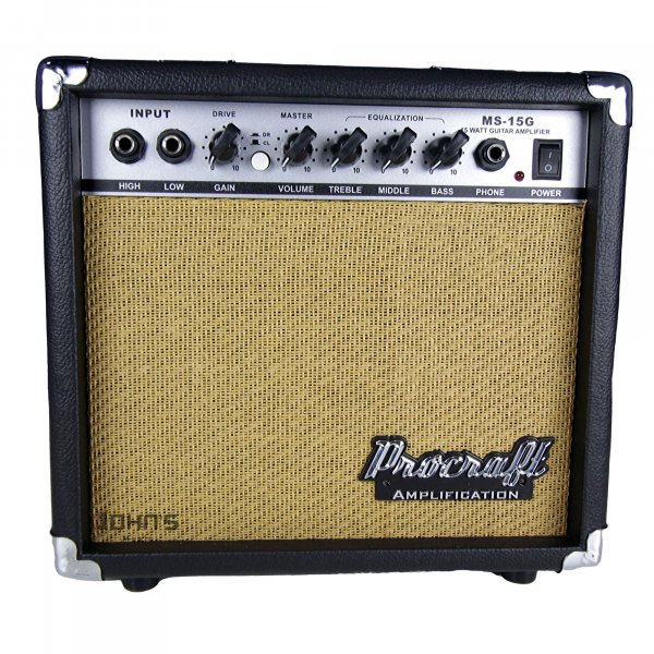 Procraft 15 watt Guitar Amplifier MS15G