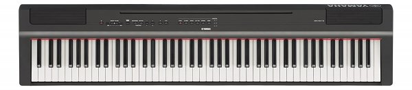 Yamaha P125 88-Key Weighted Action Digital Piano with Power Supply and Sustain Pedal (Black)