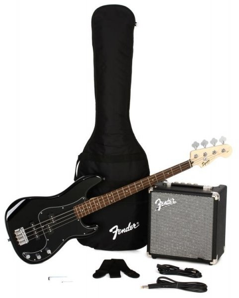 Fender Squier Affinity Series Precision Bass PJ Pack - Black