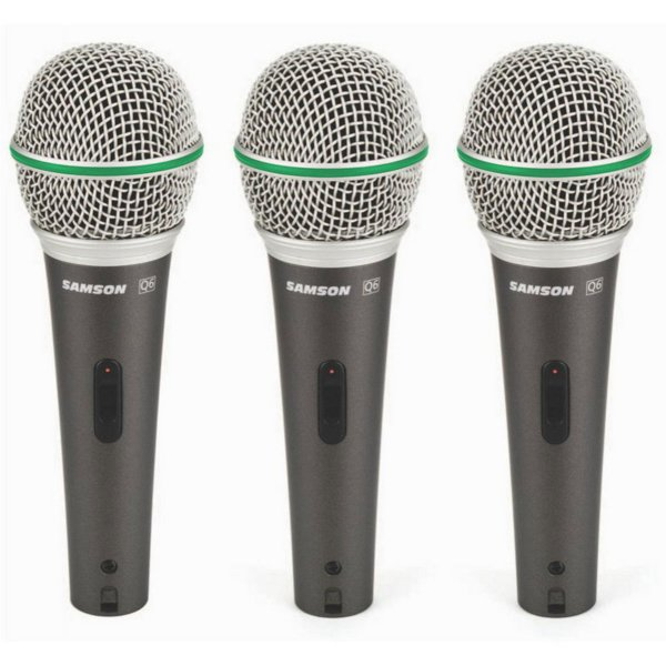 Samson Q6 Dynamic Microphone (3-pack)
