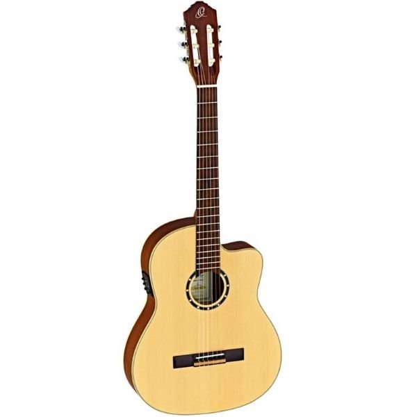 Ortega RCE125SN Thinline 6 String Electro Classical Guitar - Walnut Fretboard - Natural