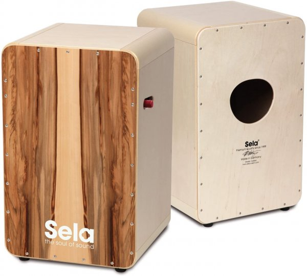 Sela SE 010 CaSela Pro Satin Nut Professional Cajon with Snare On/Off Mechanism