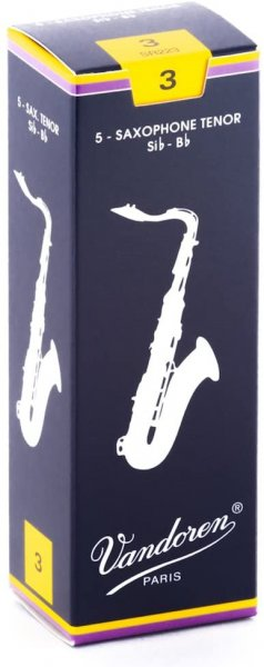 Vandoren SR223 Tenor Saxophone Traditional Reeds - Box of 5